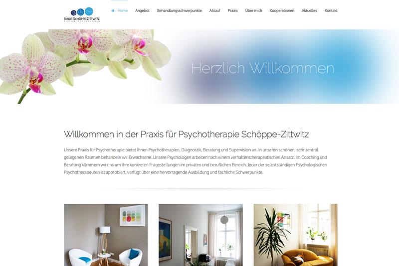 Website für Psychotherapie Birgit Schöppe-Zittwitz
